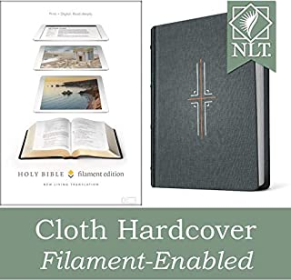 Tyndale NLT Filament Bible (Hardcover Cloth, Gray): Premium Bible with Access to Filament Bible App, Mobile Access to Stud...