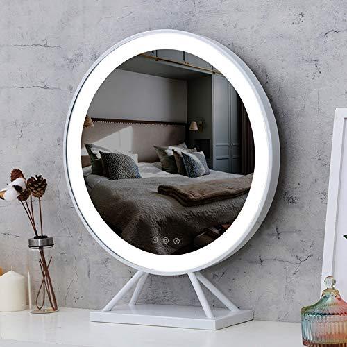 XM-MIRROR Espejo de Maquillaje LED de sobremesa con Espejo de tocador Grande...