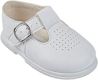 Gimbles® New Baby Boy Baypods Matt T-bar Soft/Hard Sole First Walker Christening Shoes