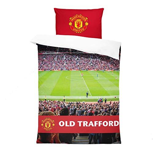 FOCO Manchester United FC Stadium Digital Print Single Duvet Bedding Set