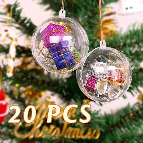 palline di Natale trasparenti per decoupage