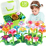 CENOVE Girls Toys Age 3-6 Year Old Toddler Toys for Girls Gifts Flower Garden Building Toy Educational Stem Toys(130 PCS)