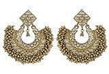 Indian Ethnic Traditional Polki Jhumka/Earring Bollywood Wedding Jewelry for Women (CE-605)