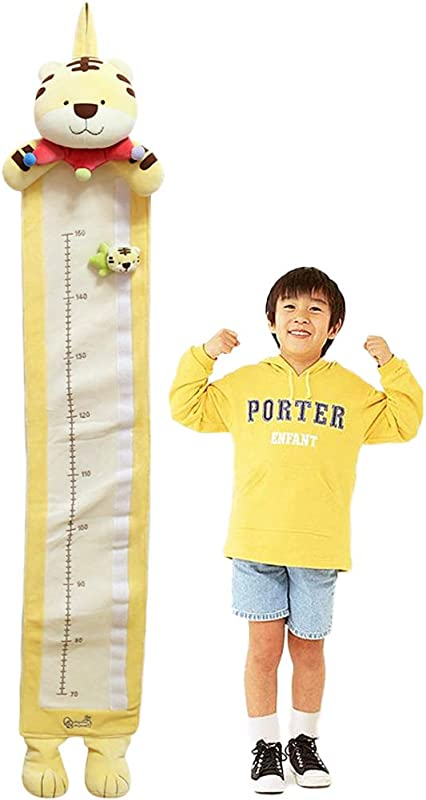 Cartoon Tiger Plush Fabric Wall Growth Chart Height Measurement Scale Ruler For Kids 46 X7