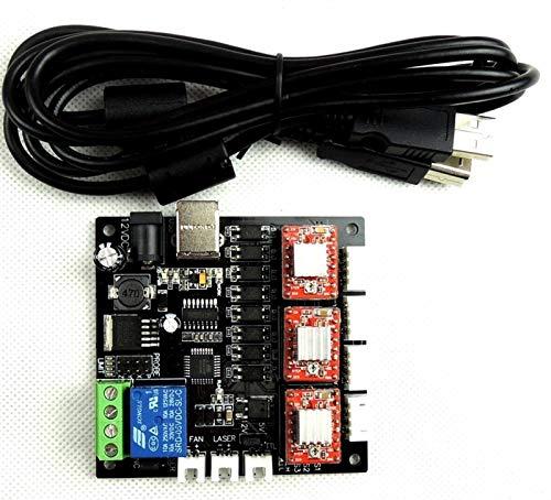 WSCHENG® GRBL Laser Controller Board Mini Graviermaschine CNC-USB-3-Achsen-Schrittmotortreiber Controller Board