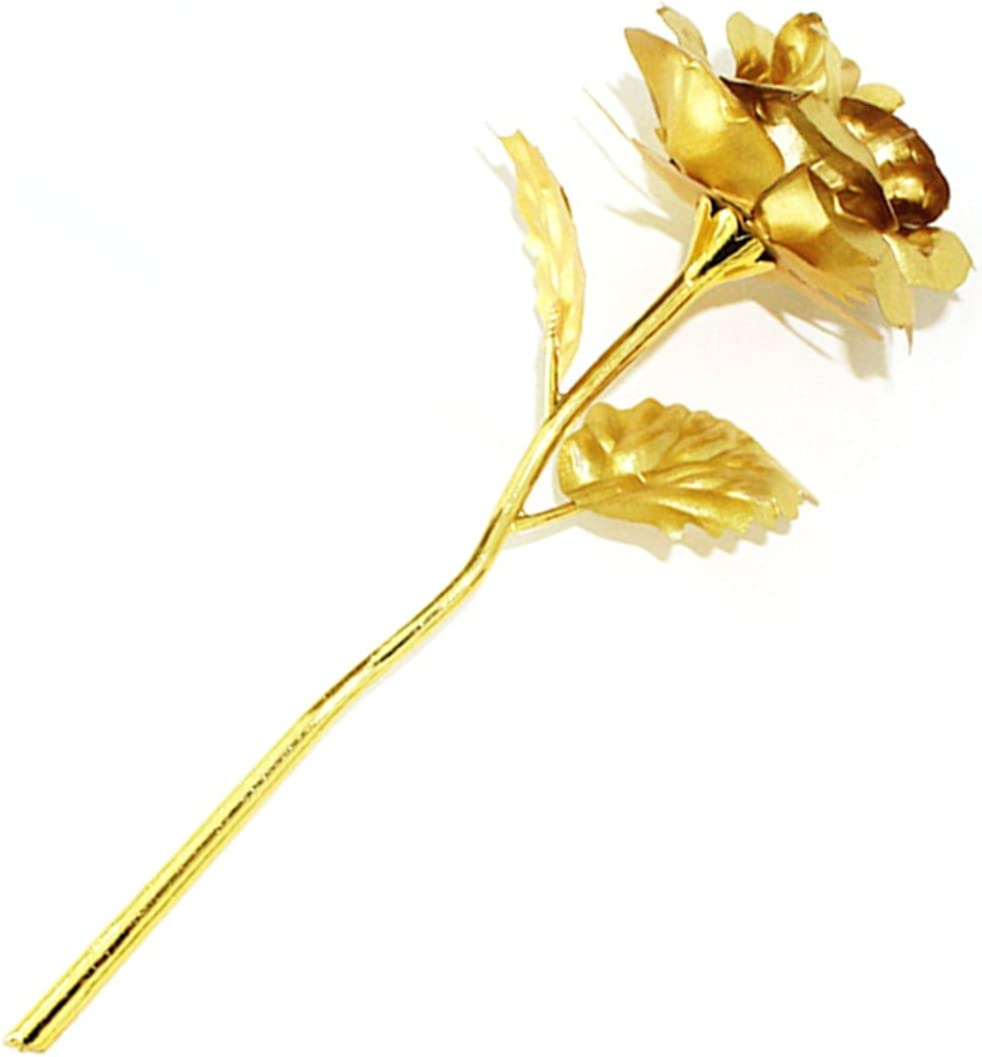 Gold Rose Flower for Mother's Challenge the lowest price Holiday Birthday Complete Free Shipping Day with Comes