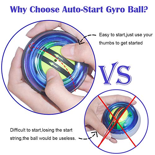 Details about  /Willfun Gyro Ball Hand Grip Exerciser Strengthener Finger Trainer Pro Auto Start