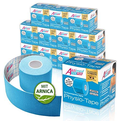 """AKTIMED Tape PLUS Kinesiologie Tape – Sporttape mit pflanzlichem Extrakt Arnica D6* – patentiertes Physiotape Dermatest """"sehr gut"""" – Kinesiologie Tapes elastisch & wasserfest"""