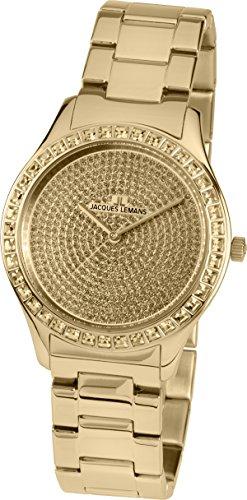 Jacques Lemans Damen Multi Zifferblatt Quarz Uhr mit massives Edelstahl Armband 1-1841ZK