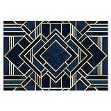 Bilderwelten Papel Pintado Adhesivo - Art Deco Gold - Mural apaisado, Tamaño:190 x...