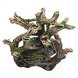 POPETPOP Resina Pecera Driftwood Acuario Árbol Rama Arbusto Tronco Ornamento Betta Registro Reptil Subir Decoración para Peces GECO Lagartija