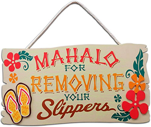 KC Hawaii Mahalo Wood Sign 16