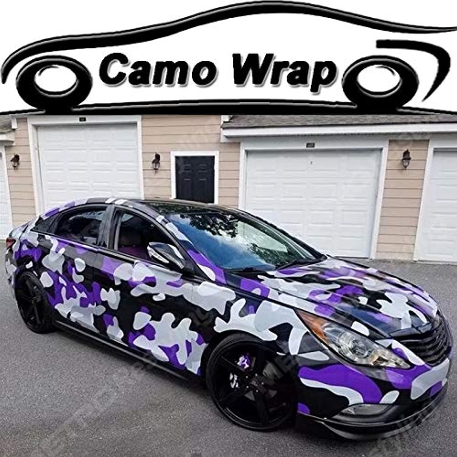 PVC Black Puple Grey Vinyl Film with Air Bubble Car Sticker Decal Motor Wrapping Foil  (Size  152CMx15M 5X49FT)