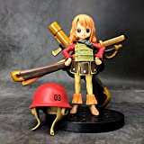 JINFENFG One Piece Small Musketeer DXF Childhood Nami Anime Figure Red Theatre Edition 15CM (5.91in)...