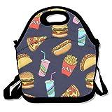 Hot Dog Fast Food Geschenk Wasserdicht Lunch Tasche Isoliert wiederverwendbar Picknick Lunch-Boxen für
