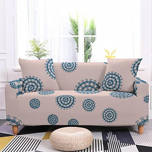 Fundas de Sofá Elastica 4 PlazasGuirnalda Azul Funda Cubre Sofa Regalar 2 Funda de Cojines Funda para Sofá Funda de sofá de Sillón Antideslizante Protector Cubierta de Muebles
