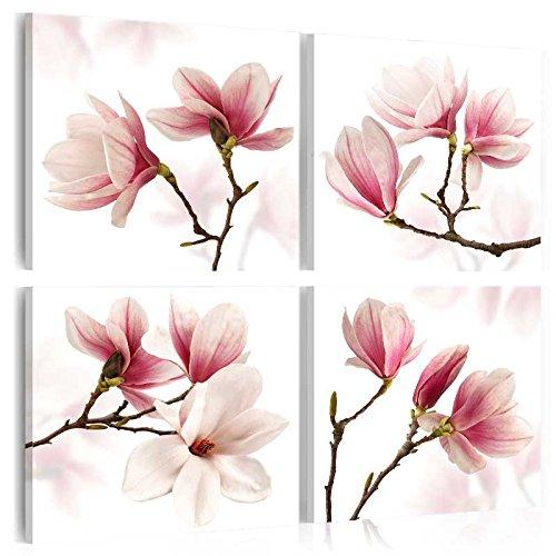 murando Cuadro en Lienzo 40x40 cm - Magnolia - Impresión de 4 Piezas Material Tejido no Tejido Impresión Artística Imagen Gráfica Decoracion de Pared - Flor b-A-0259-b-j