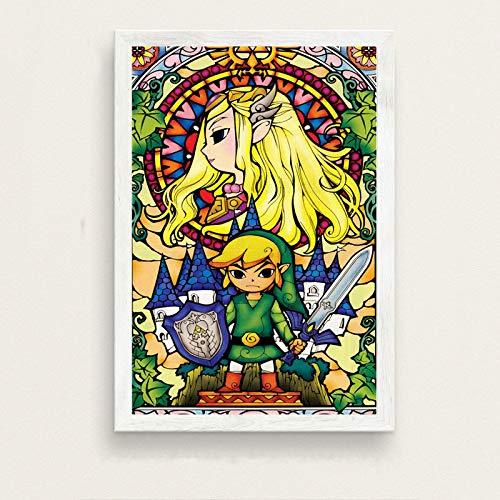 danyangshop Póster De Pared De Videojuegos Zelda Legend, Pintura De Decoración del Hogar En Lienzo, Decoración del Hogar para Habitación De Niños para Sala De Estar W-2889 (50X90Cm) Sin Marco