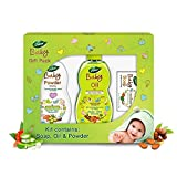 Dabur Baby Gift Pack (3 pieces) - Daily baby care essentials with No Harmful Chemicals | Hypoallergenic & Dermatologically tested with No Paraben and Phthalates