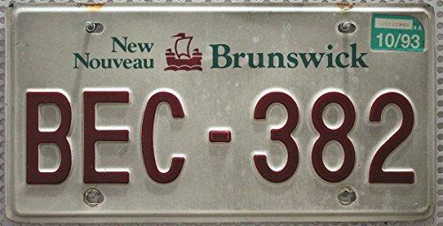 KANADA_Auswahl_von_Fahrzeugschildern Original Nummernschild aus New Brunswick : Canada License Plate : Kanada Autoschild : KFZ Kennzeichen Metall Schild