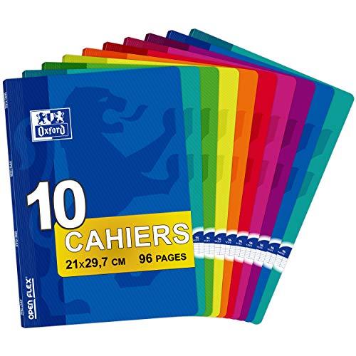 Oxford Openflex 100102627 - Pack de 10 libretas grapadas de tapa blanda, A4