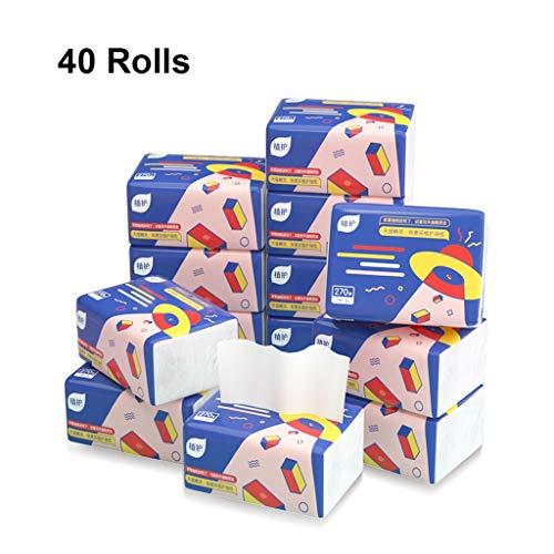 270 vellen bamboe pulp papier Handdoeken, 3 lagen toiletpapier, huishoudelijke zakdoeken, absorberend wasbaar zachte huid