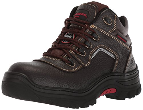 Skechers for Work Men's Burgin-Sosder Industrial Boot,brown embossed leather,9.5 M US