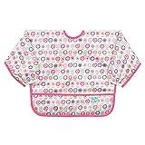 バンキンススリーブビブ 洗濯機でも洗える お食事用防水ビブ 6~24ヶ月 ひもタイプ Bloom(ピンク) SU750