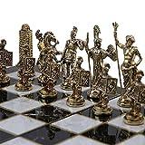 GiftHome (sólo Piezas de ajedrez Histórico Roma Figuras de Metal ajedrez Piezas tamaño Mediano King 2.8 Inc (Tabla no está incluida)