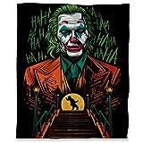 ARYAGO Joker 2019 - Manta de franela ultrasuave (180 x 230 cm), diseño de Joaquín Phoenix