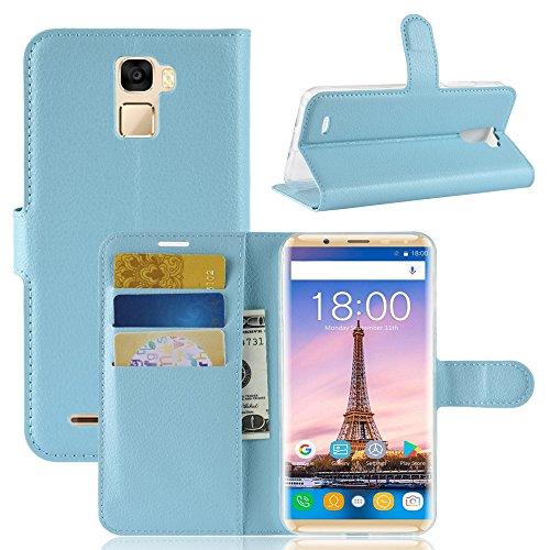 TenYll Oukitel K5000 Wallet Tasche Hülle, PU Schutzhülle [Premium Leder] [Ultra Slim] [Card Slot] [Ständer] Flip Wallet Hülle Etui für Oukitel K5000 -Blau