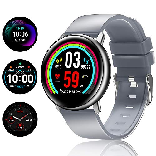 TagoBee TB15 Reloj Inteligente Ip67 Waterproof Smart Watch 1.22'' IPS Color Screen Activity Watch Fitness Trackers con Monitor de sueño, podómetro, Call&SMS notificaciones(Gris)