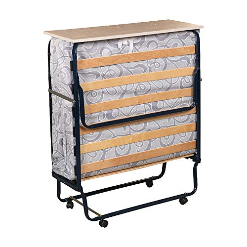 Plegatin-Cama somier Plegable con colchón Espuma - 90x190cm