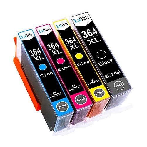 LxTek 364XL Compatible pour HP 364 XL Cartouches d'encre pour HP Photosmart 5510 5512 5515 5520 5522 5524 6510 6520 6512 6515 6525 7520 B110a B109a Deskjet 3070A 3520 Officejet 4620 4622 (4 Pack)