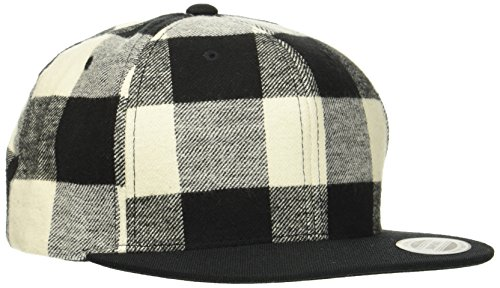 Flexfit Checked Flanell Snapback Kappe, blk/Wht, one Size