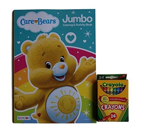 Care Bears ''Funshine Bear'' Jumbo Coloring and Activity Book with Crayola Crayons