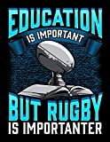 Education Is Important But Rugby Is Importanter: Funny Education Is Important But Rugby Is Importanter Blank Sketchbook to Draw and Paint (110 Empty Pages, 8.5' x 11')