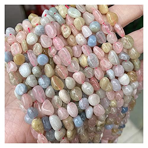 WanXingY Cuentas de Piedra Natural de 8-10 mm Irregulares Morganita Flojo Beads, hebras de 15 Pulgadas para joyería Creativa Haciendo Pulseras y Collares (Item Diameter : 8 10mm 38 42pc)