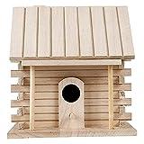 ANCLLO - Casa per uccelli e uccelli in legno, ideale per appendere uccelli e uccelli