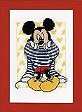 Vervaco–Kit para Mickey vestirse de Punto de Kit de Punto de Cruz, Multicolor