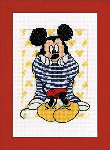 Vervaco – Kit para Mickey vestirse de Punto de Kit de Punto de Cruz, Multicolor