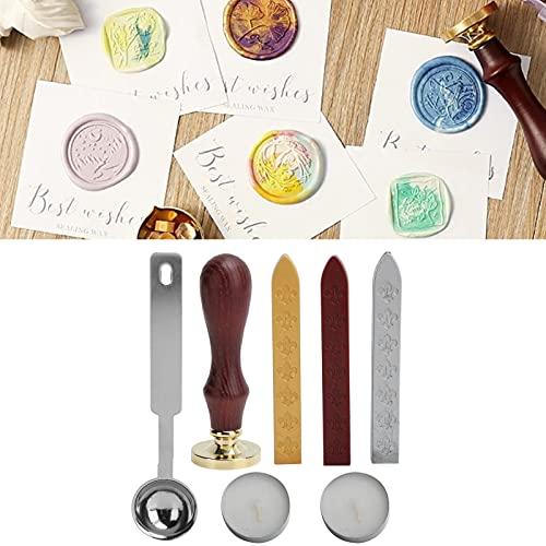 Wosune Retro Creative, Seal Stamp Kit Reemplace e instale Cera de Madera para Pasatiempos, proyectos artesanales, Bodas, Invitaciones a Fiestas, Celebraciones y Otros Eventos Especiales.