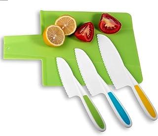 Couteau Cuisine Couteau de chef en santé plastique fruits légumes Couteau Couteau Santoku en dents de scie Cutter Slicing ...