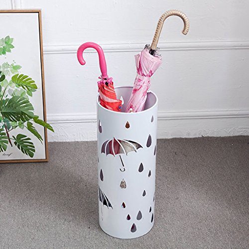 PLL Nordic eenvoudige mode ijzer paraplu staan metaal gesneden paraplu emmer