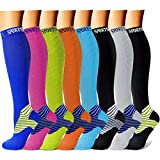 CHARMKING Compression Socks Women & Men 15-20 mmHg is Best Graduated Athletic for Running, Flig…