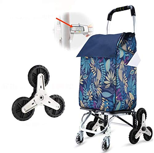 ZHANG Lightweight Shopping Trolley Folding 8 Wheel Large Capacity Shopper