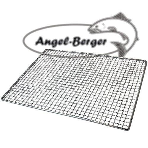 Angel-Berger Räucherrost Flachrost mit Netz Käse Rost Gitterrost 35 x 26cm