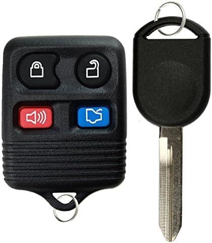 KeylessOption Keyless Entry Remote Control Fob Uncut Blank Car Ignition Key For CWTWB1U345 GQ43VT11T product image