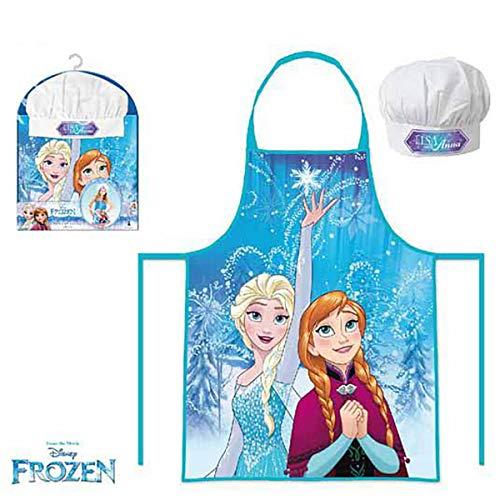 Asditex Delantales Infantiles para niños. Delantal y Gorro Cocinero Frozen