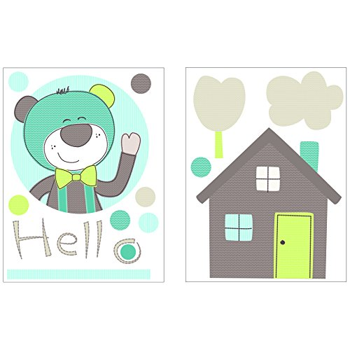 SAUTHON BABY DECO - Stickers xxl ours paddy